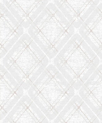 Hadley Light Grey Argyle Wallpaper Wallpaper