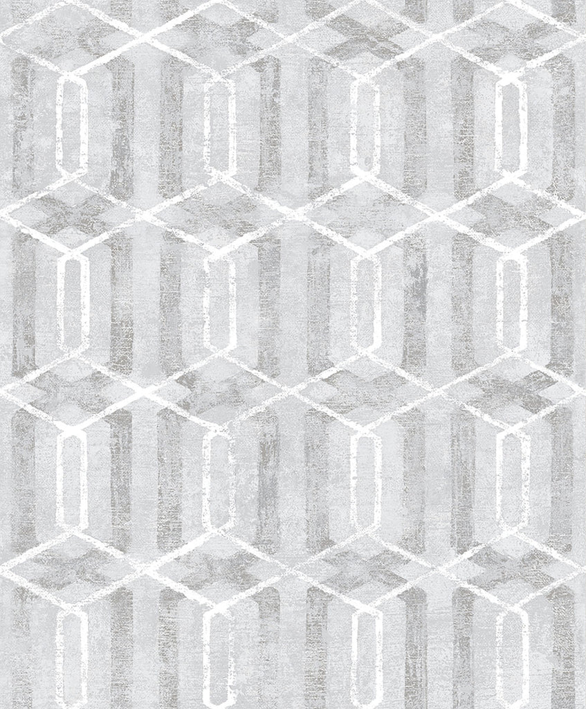 Stormi Grey Geometric Wallpaper Wallpaper