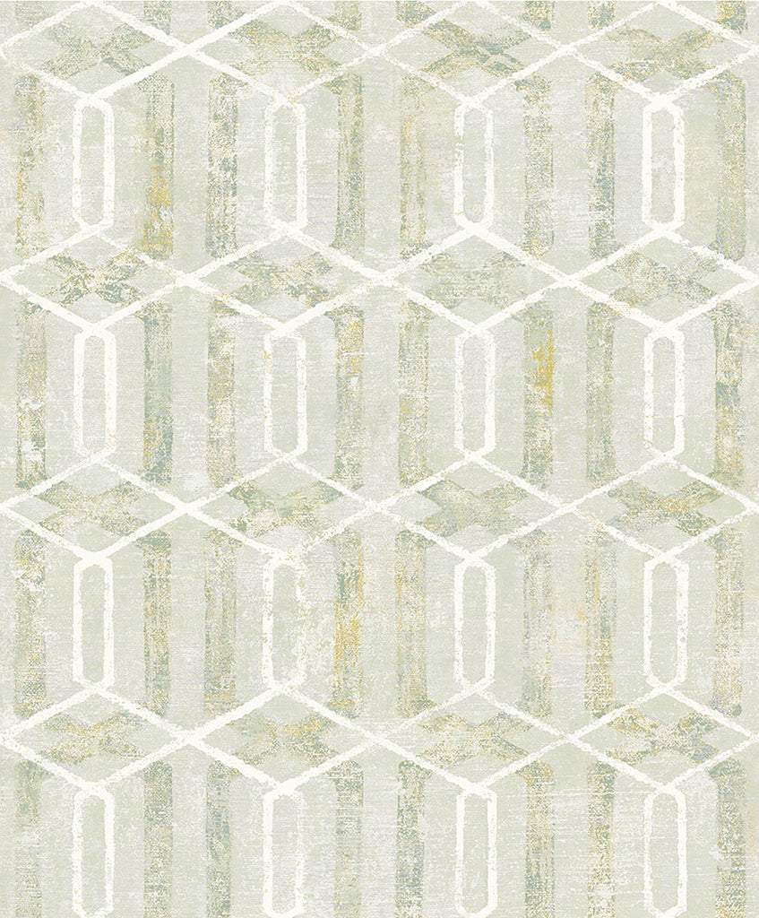 Stormi Light Green Geometric Wallpaper Wallpaper