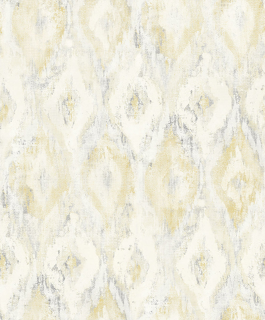 Gilboa Yellow Ikat Wallpaper Wallpaper