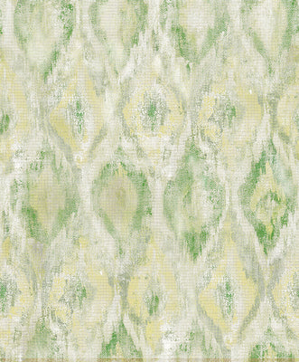 Gilboa Green Ikat Wallpaper Wallpaper