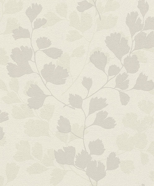 Claudius Off-White Leaf Silhouette Wallpaper Wallpaper