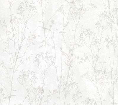 Cordelia Off-White Floral Silhouettes Wallpaper Wallpaper