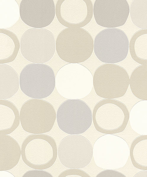 Tybalt Grey Geometric Wallpaper Wallpaper
