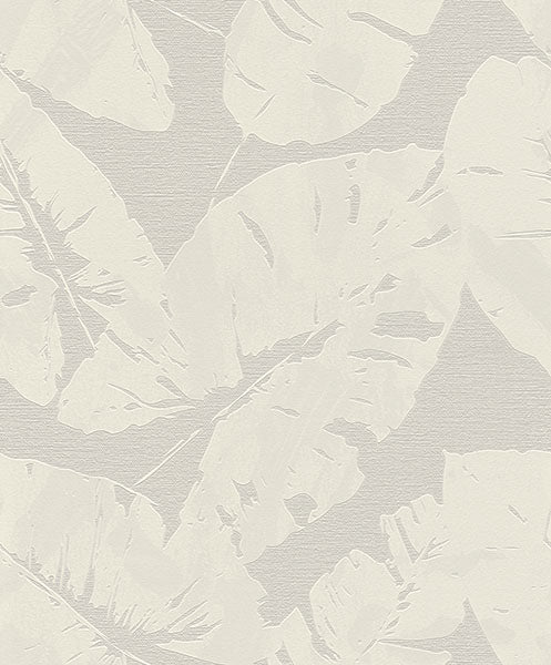 Shylock Light Grey Banana Leaf Wallpaper Wallpaper