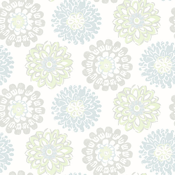 Sunkissed Light Green Floral Wallpaper Wallpaper