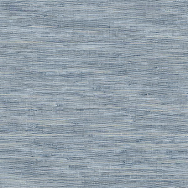 Waverly Blue Faux Grasscloth Wallpaper Wallpaper