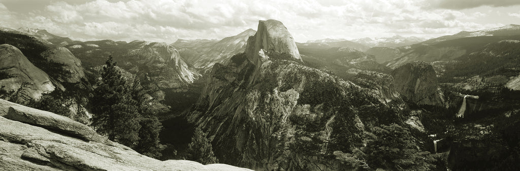 Half Dome, Yosemite National Park, B&W Mural