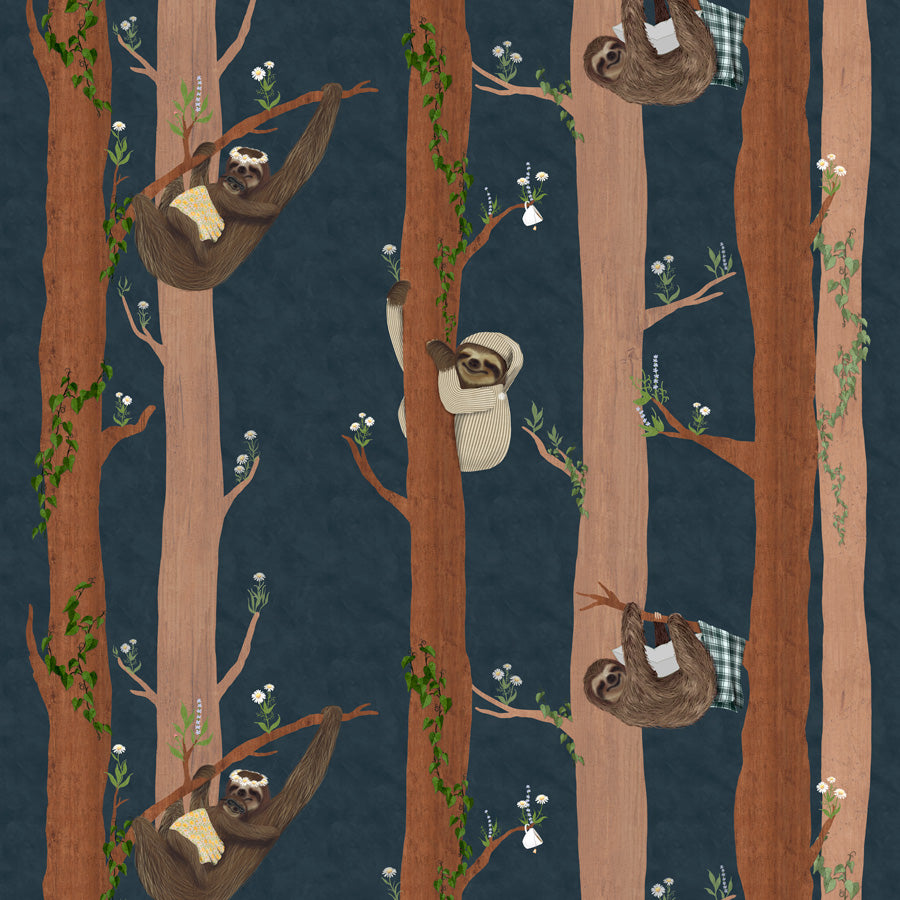 Sleepy Sleepy Sloths - Tilia Wallpaper