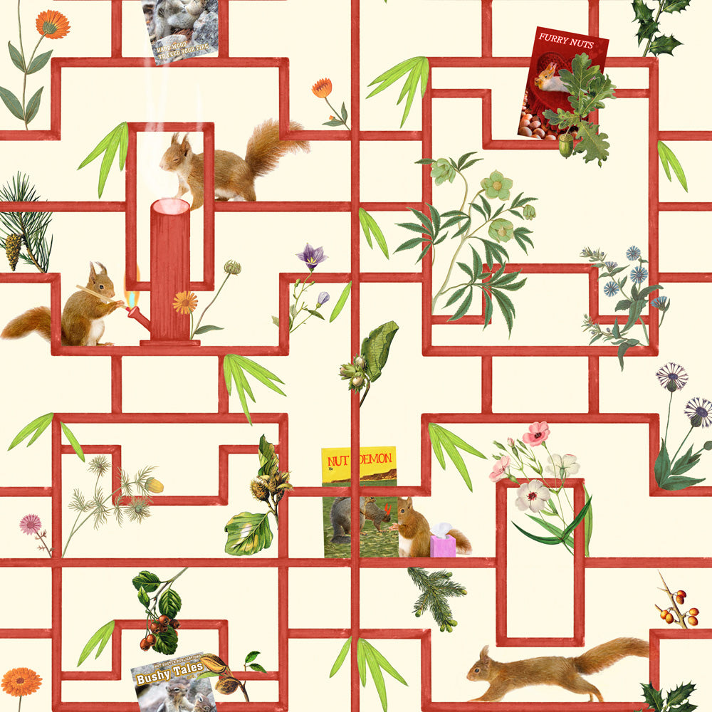 Squirrels, Nuts, and Zippers - Hickory Wallpaper