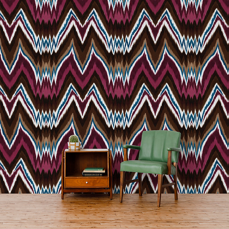 Glam Rock Ikat - Jewel Wallpaper