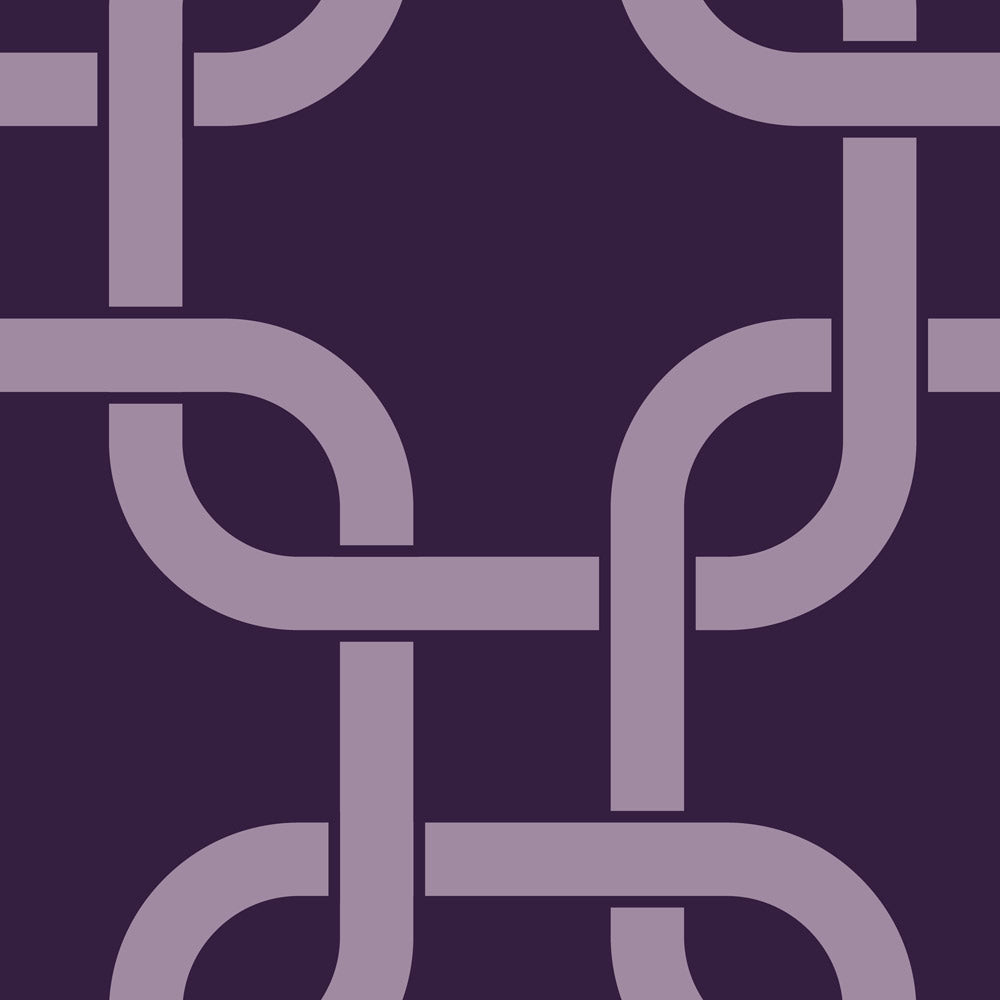 Linked Chains - Plum Wallpaper