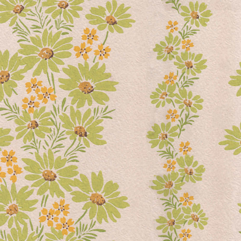 Lazy Daisies - Lime Wallpaper