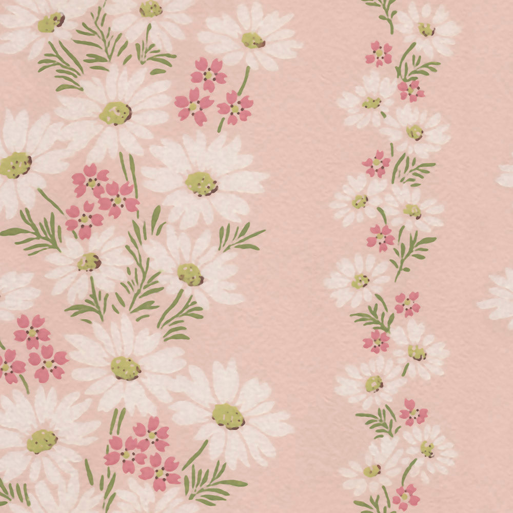 Lazy Daisies - Pink Wallpaper