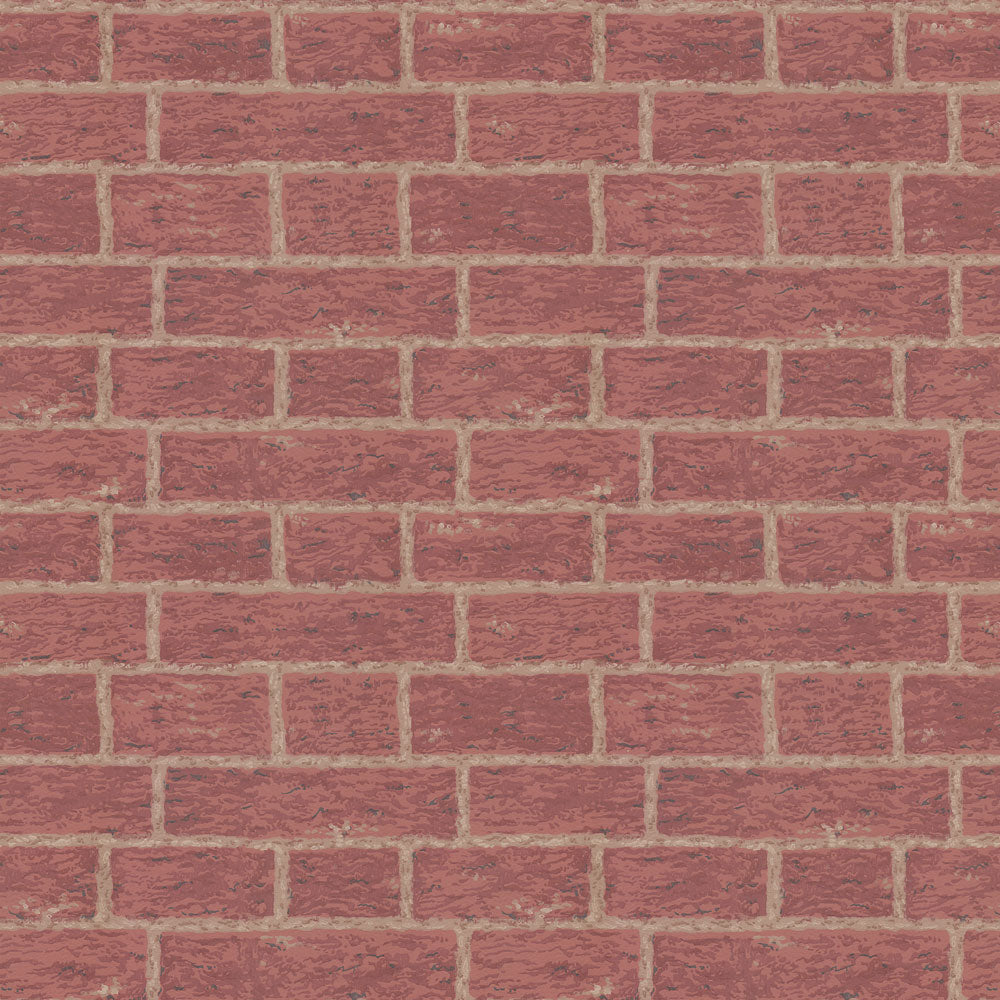 Masonry - Crimson Wallpaper