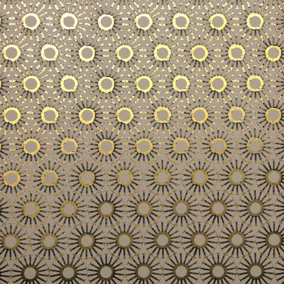 Michelle's Starburst - Clay on Gold Wallpaper
