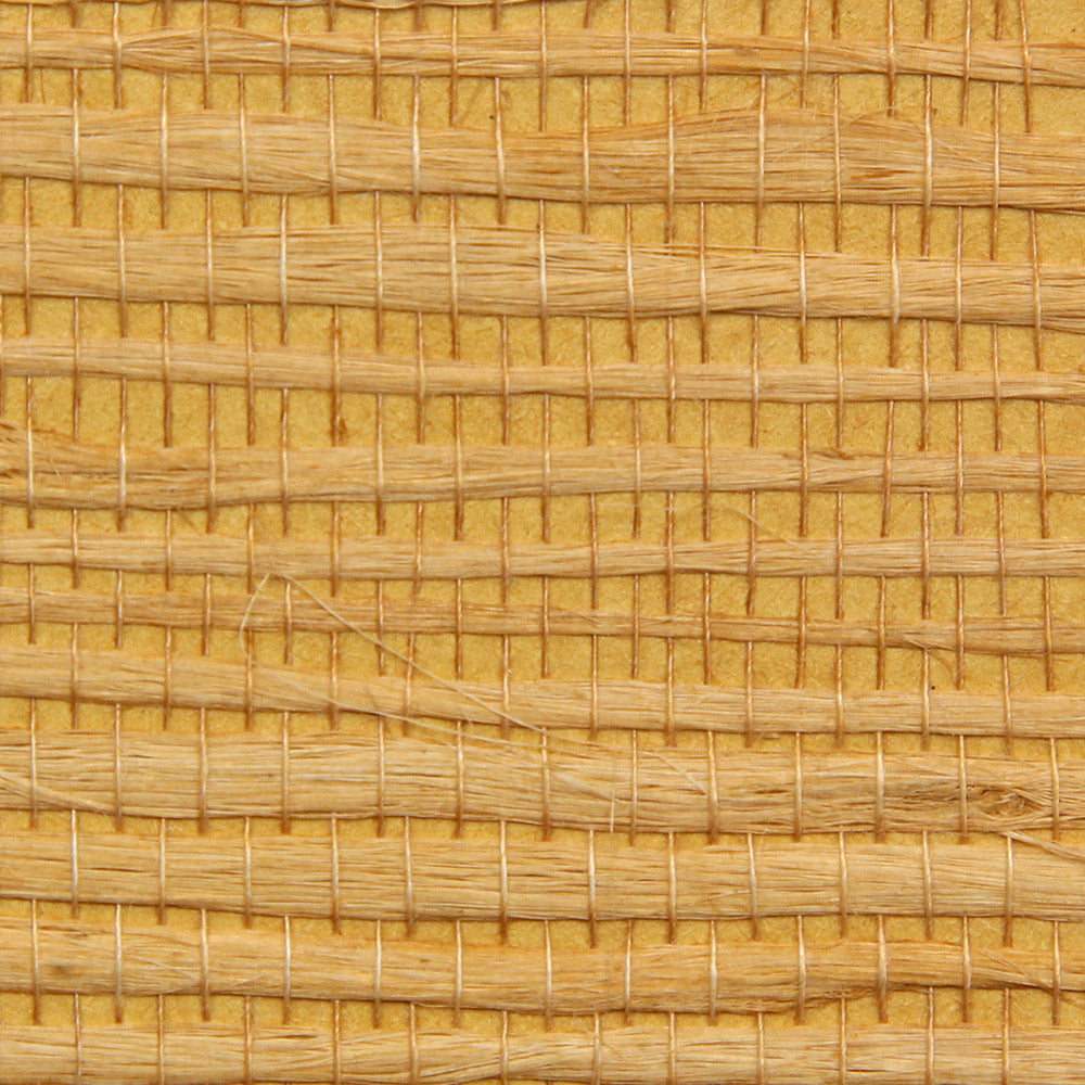 Golden Yellow Grasscloth Wallpaper