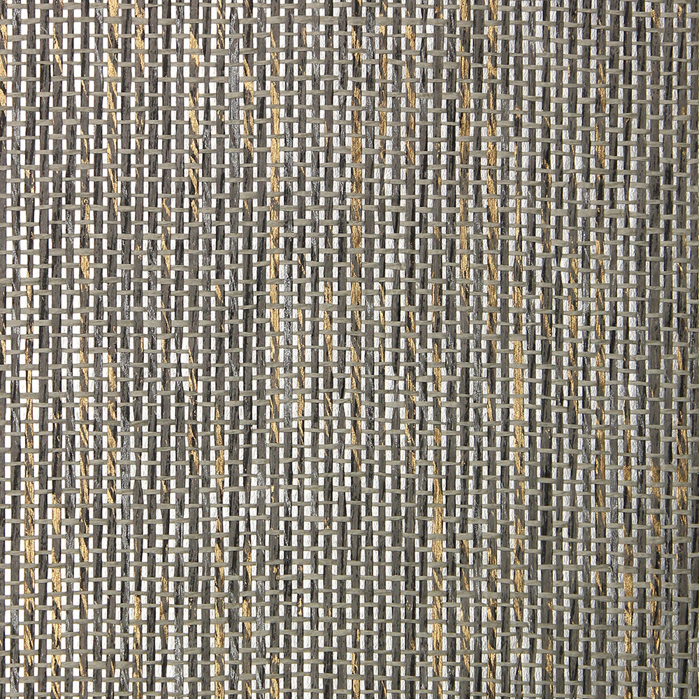 Smoky Metallic Grasscloth Wallpaper