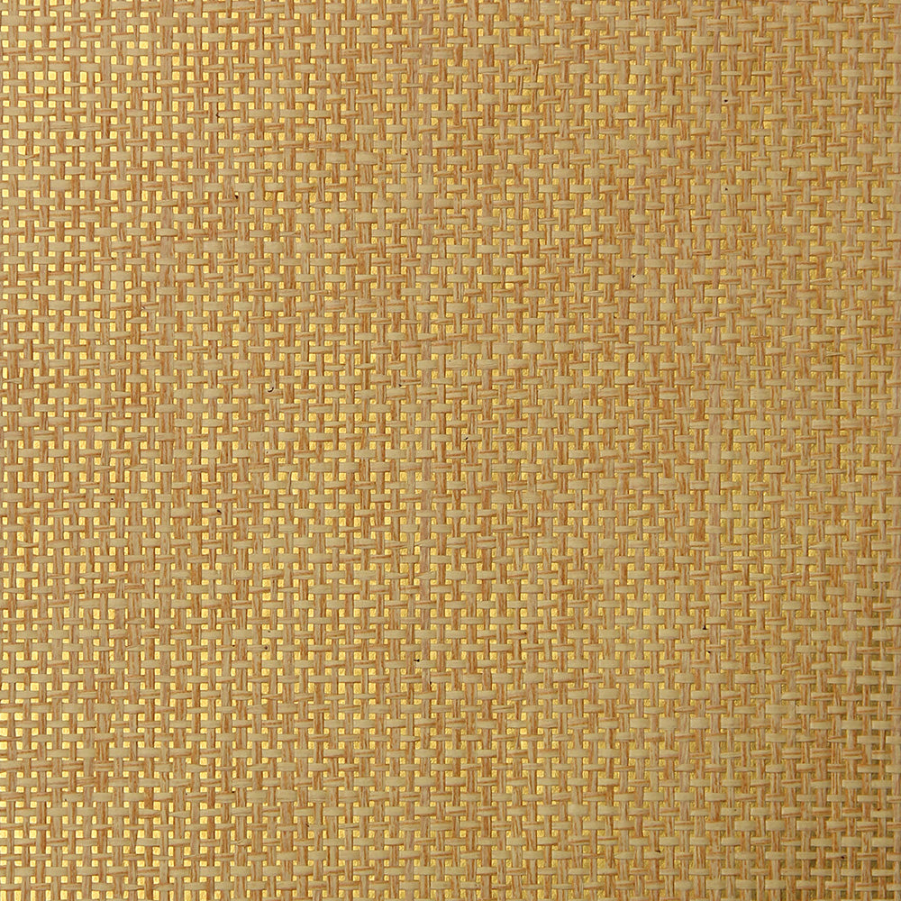 Camel and Gold Grasscloth Wallpaper