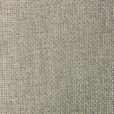 Ash and Silver Grasscloth Wallpaper