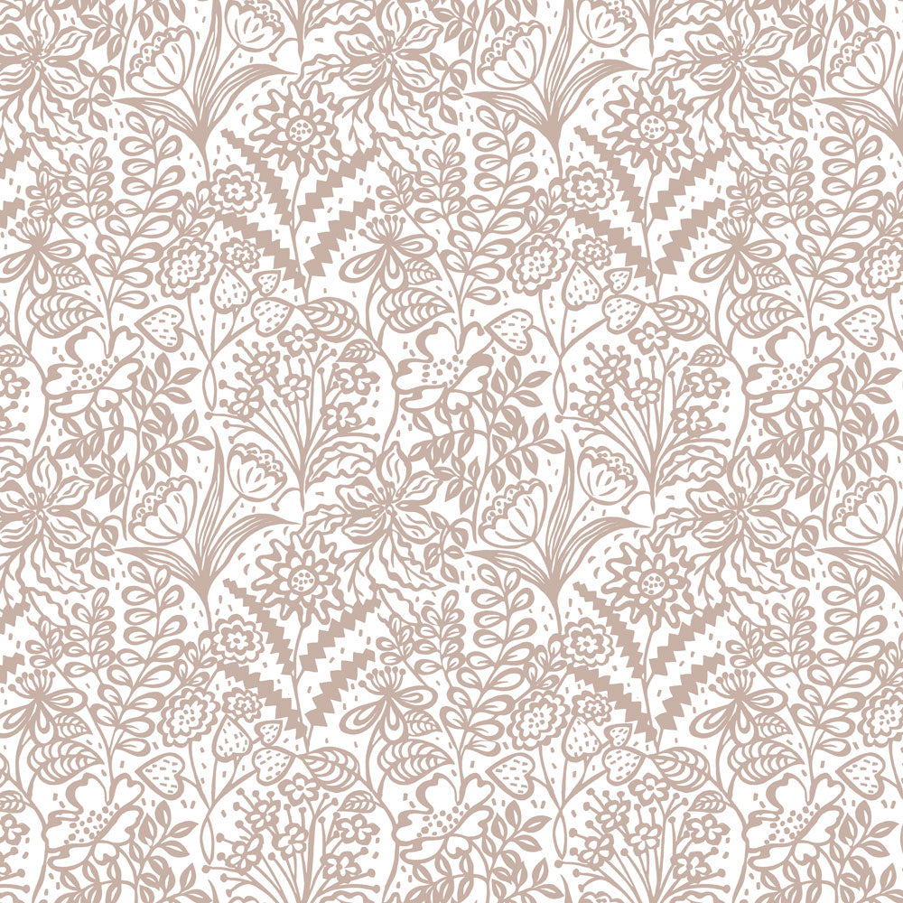 Floral Fandango - Grey Wallpaper