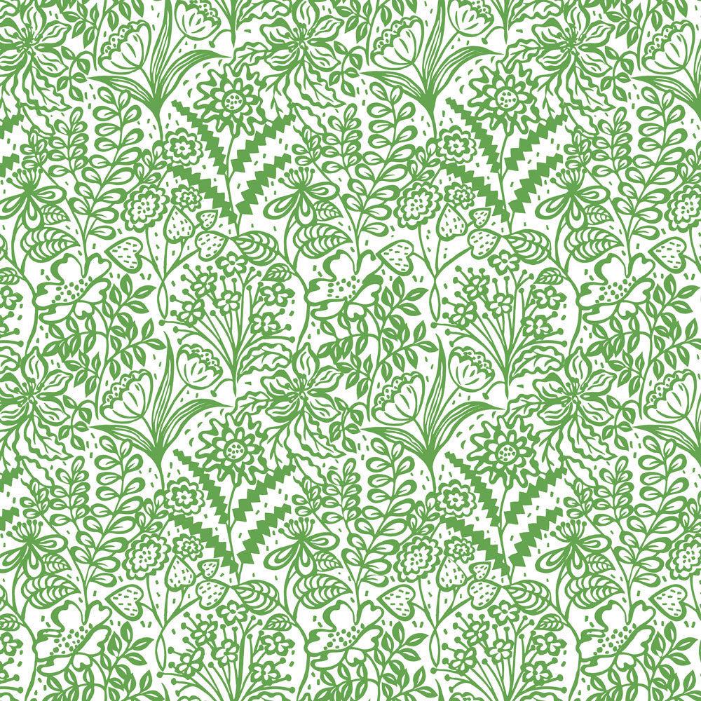 Floral Fandango - Leaf Wallpaper