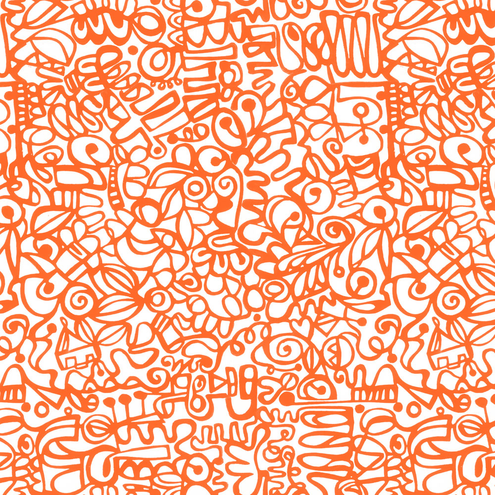 Graffiti - Orange Wallpaper