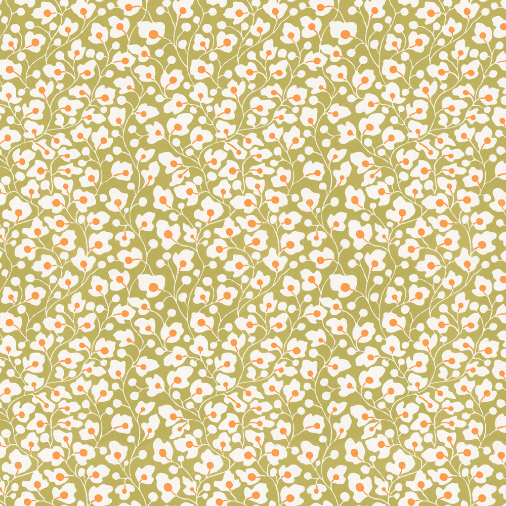 Sally's Garden - Olive Wallpaper