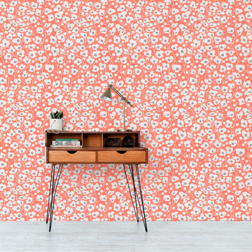 Sally's Garden - Poppy Wallpaper