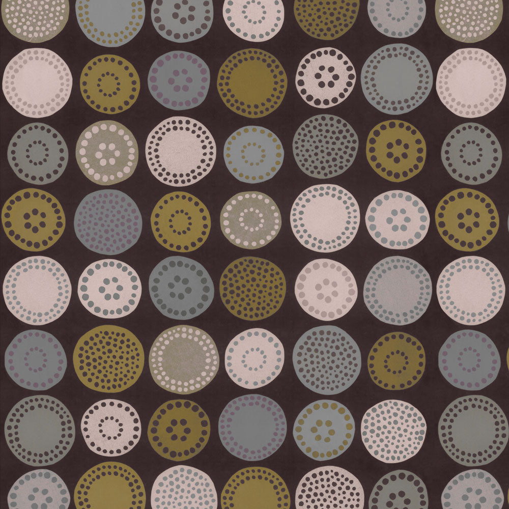 Sand Dollar - Olive Wallpaper