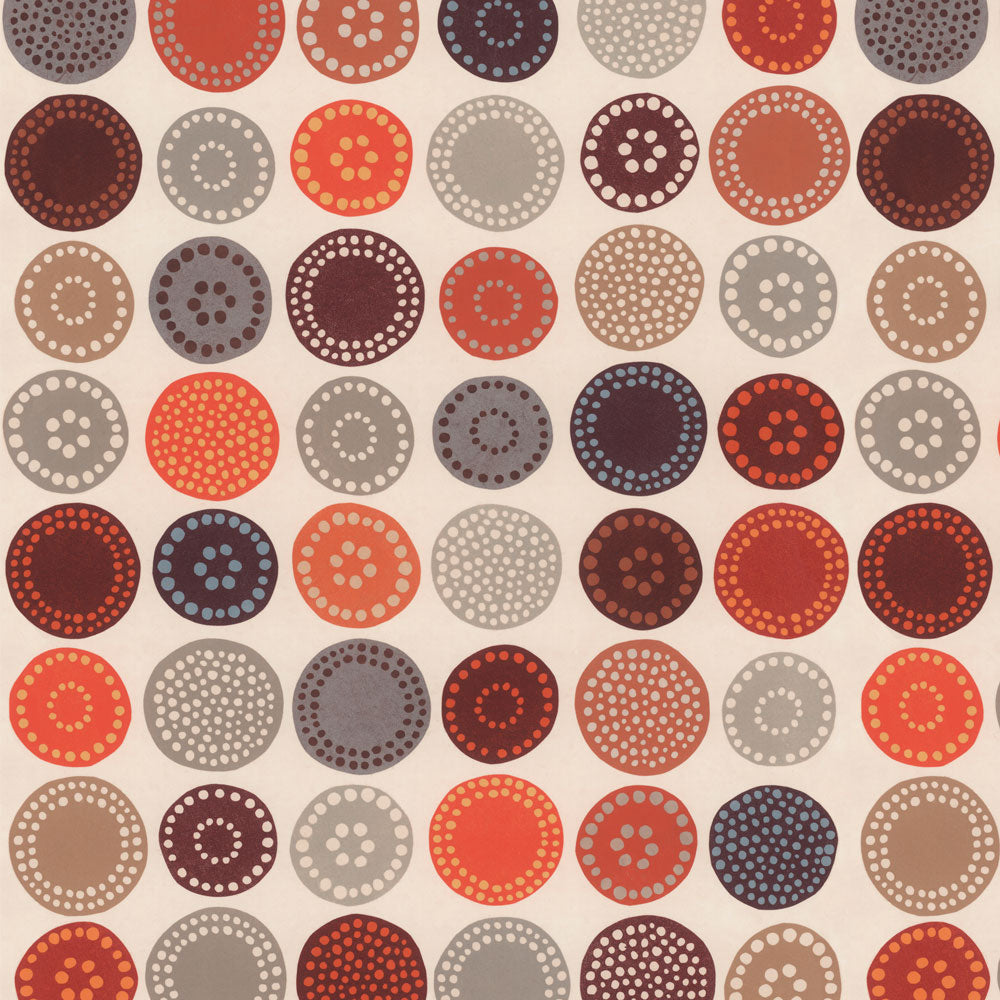 Sand Dollar - Terracotta Wallpaper