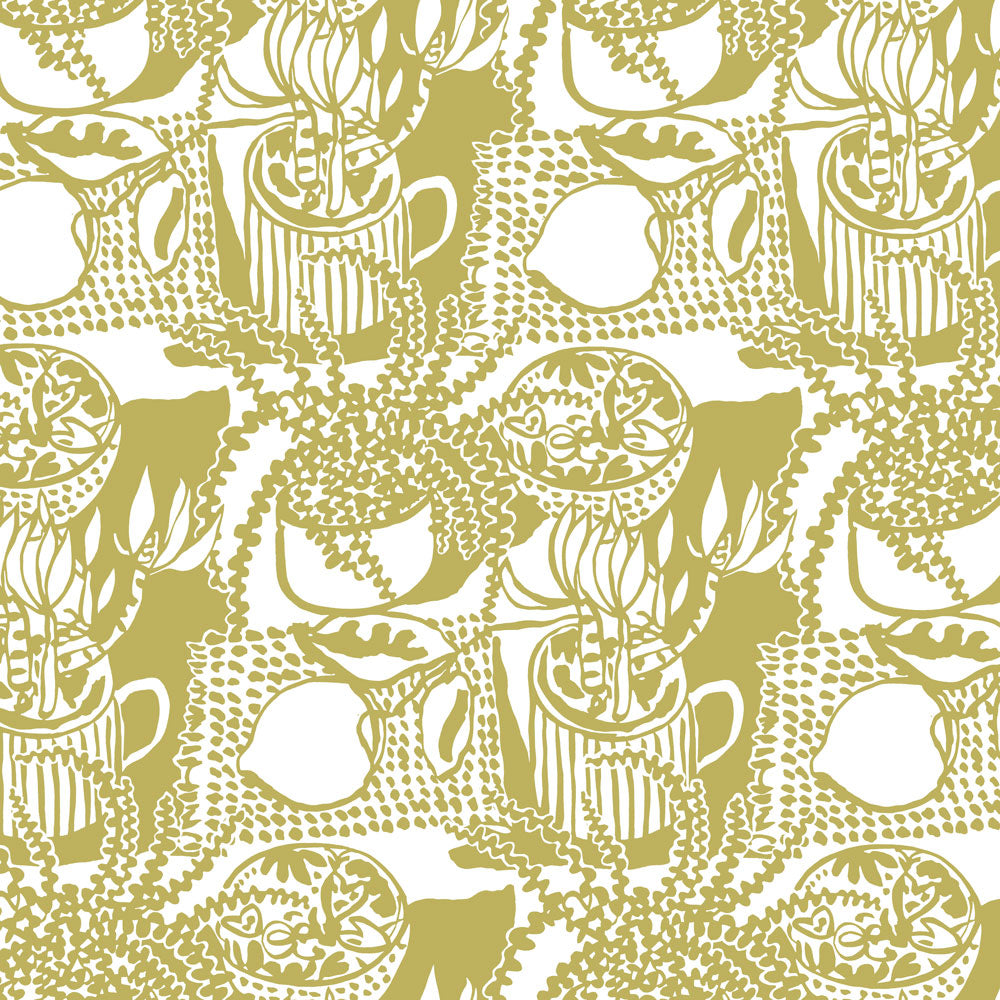 Still Life with Lemon - Olive Wallpaper
