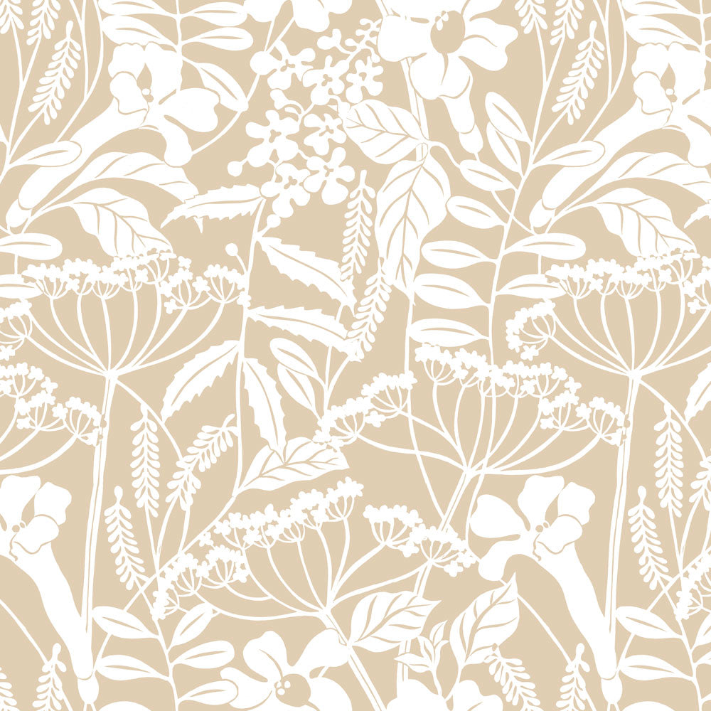 Wild Hedgerow - Parchment Wallpaper
