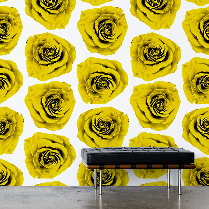 Rose Blossom - Yellow Mural