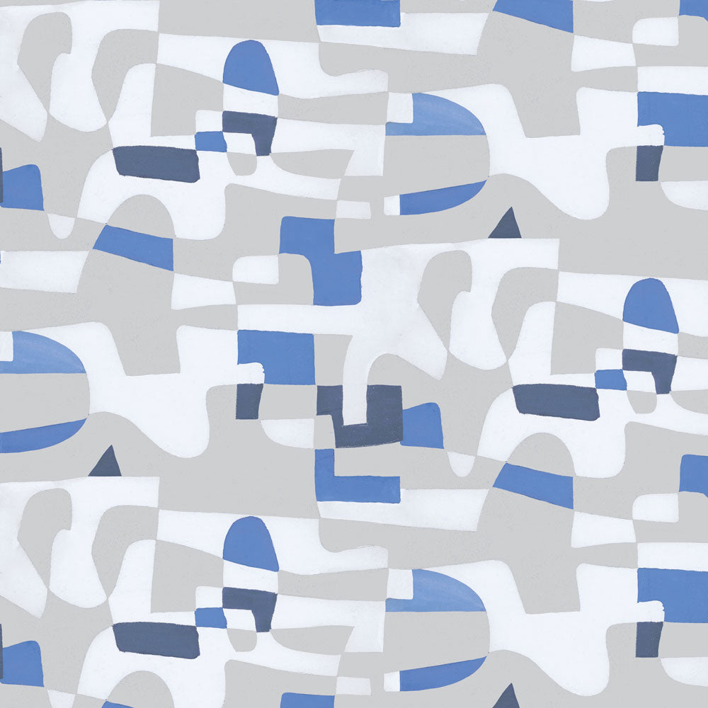 Shape Shifter - Blue Flannel Wallpaper
