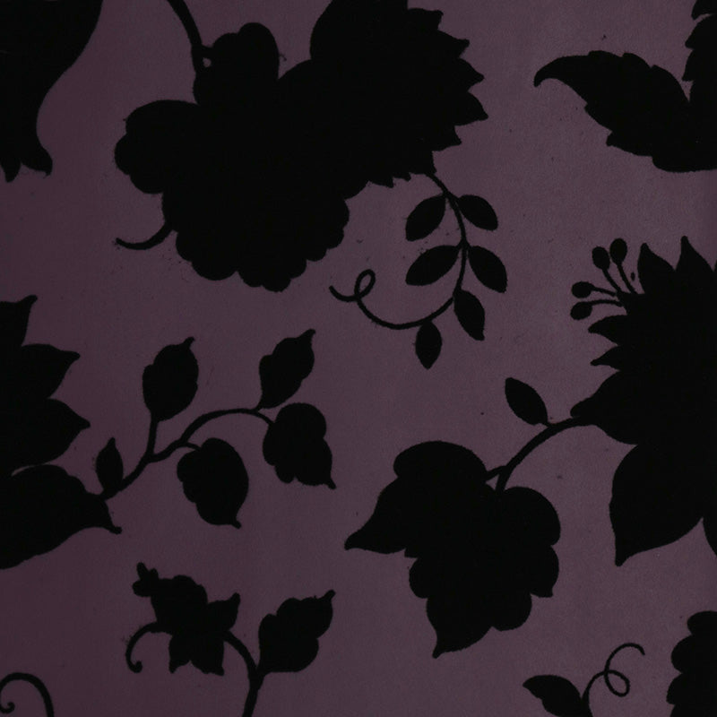 Plum and Black Velvet Wallpaper