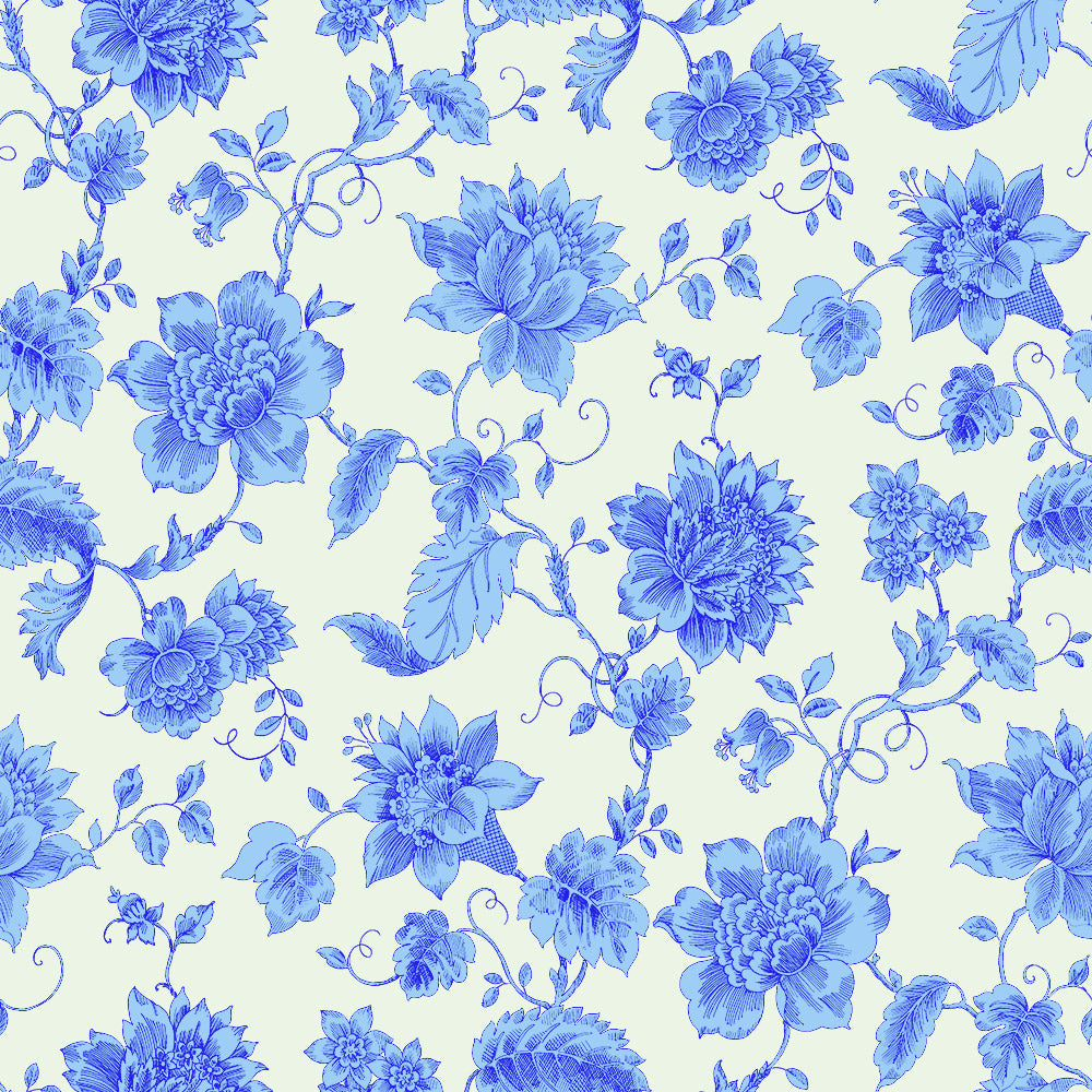 Floral Toile - Porcelain Wallpaper