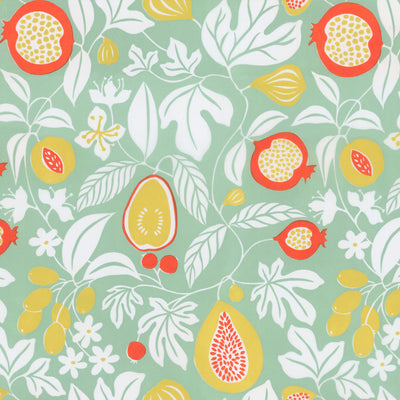 Folk Fruit - Mint Wallpaper