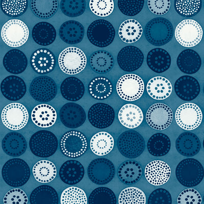 Sand Dollar - Indigo Wallpaper