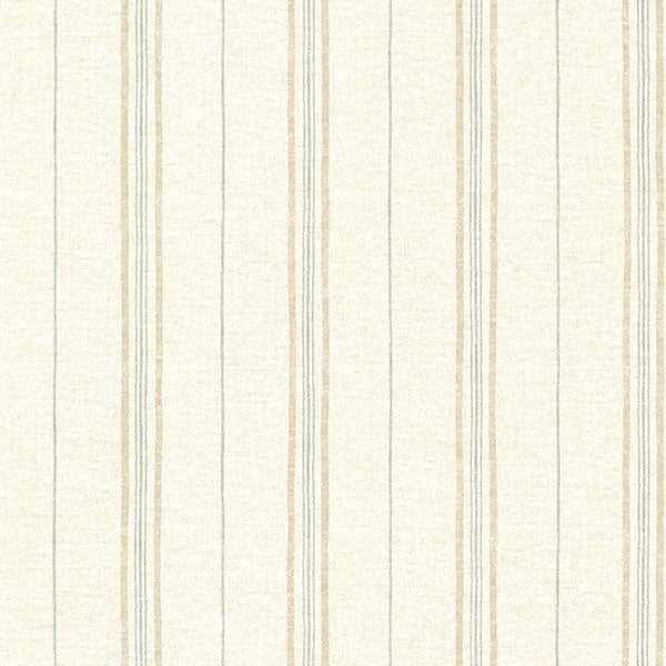 Calais Sage Grain Stripe Wallpaper Wallpaper