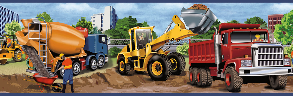 Elbow Grease Yellow Heavy Machinery Portrait Border Wallpaper