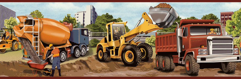 Elbow Grease Orange Heavy Machinery Portrait Border Wallpaper