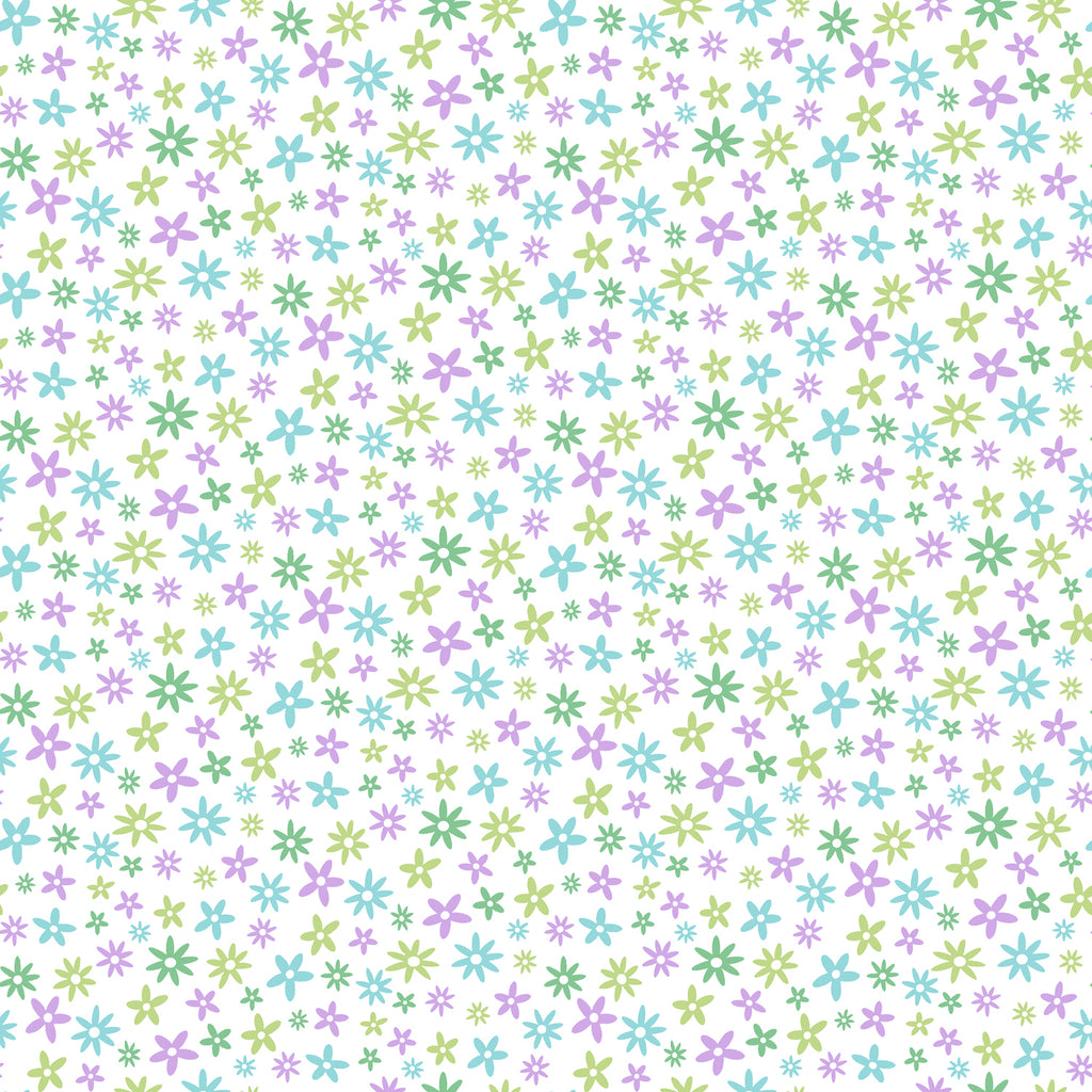 Delilah Purple Mod Flower Toss Wallpaper Wallpaper