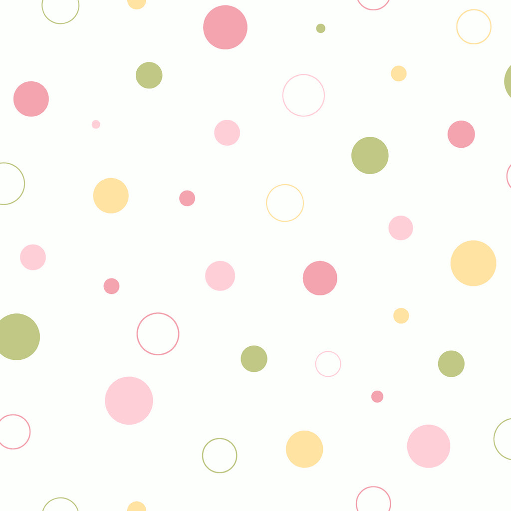Wobbles Pink Geometric Toss Wallpaper Wallpaper