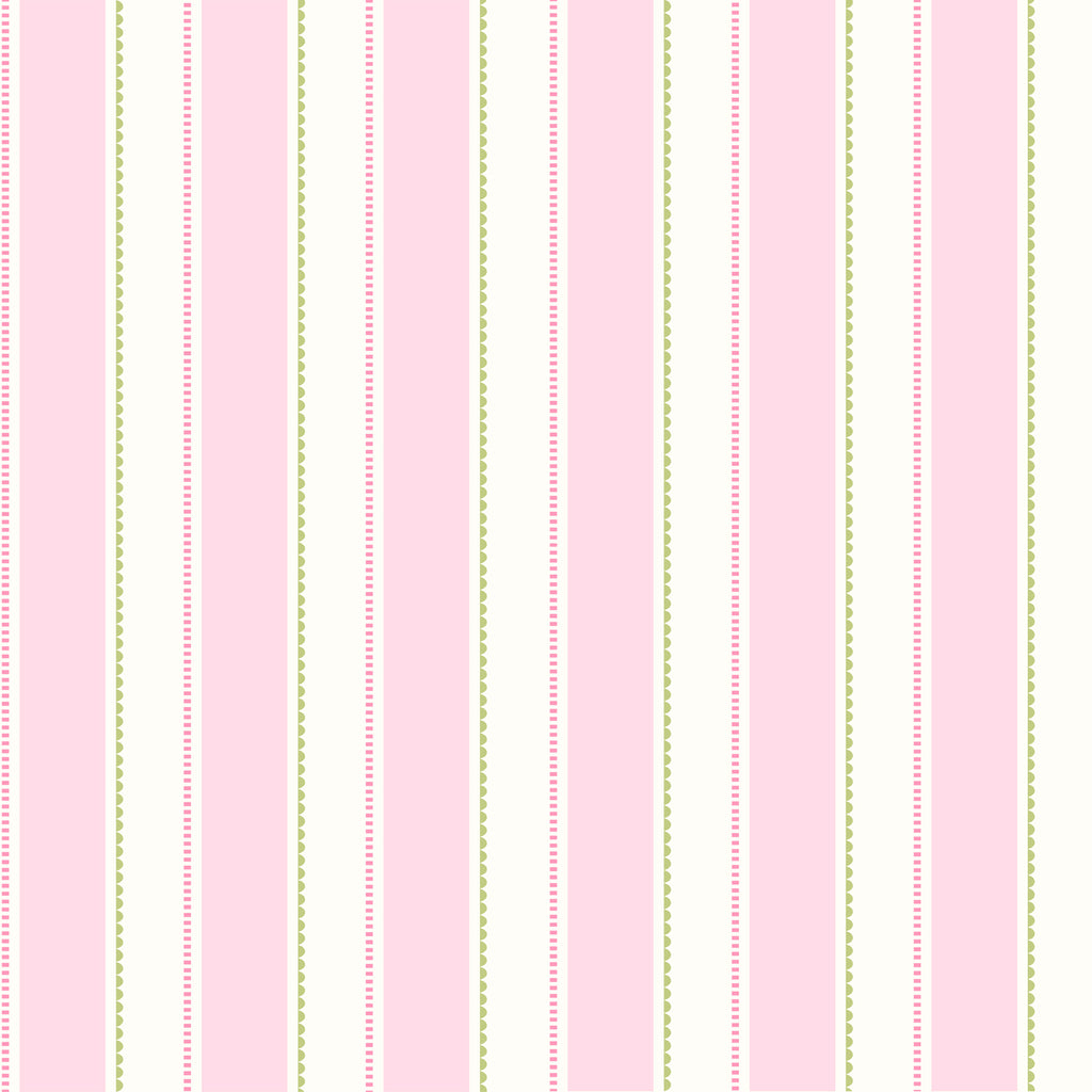 Gatsby Pink City Scape Stripe Wallpaper Wallpaper