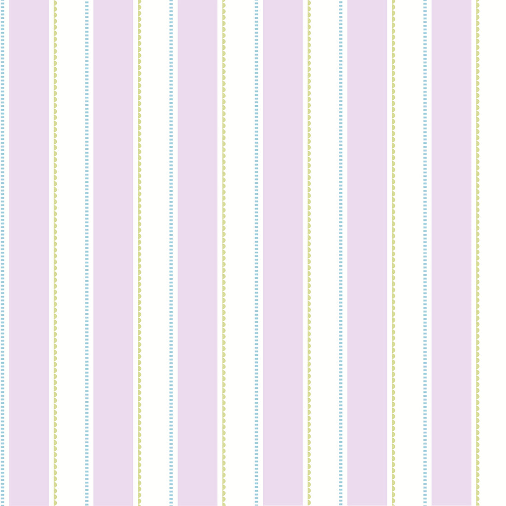 Gatsby Purple City Scape Stripe Wallpaper Wallpaper