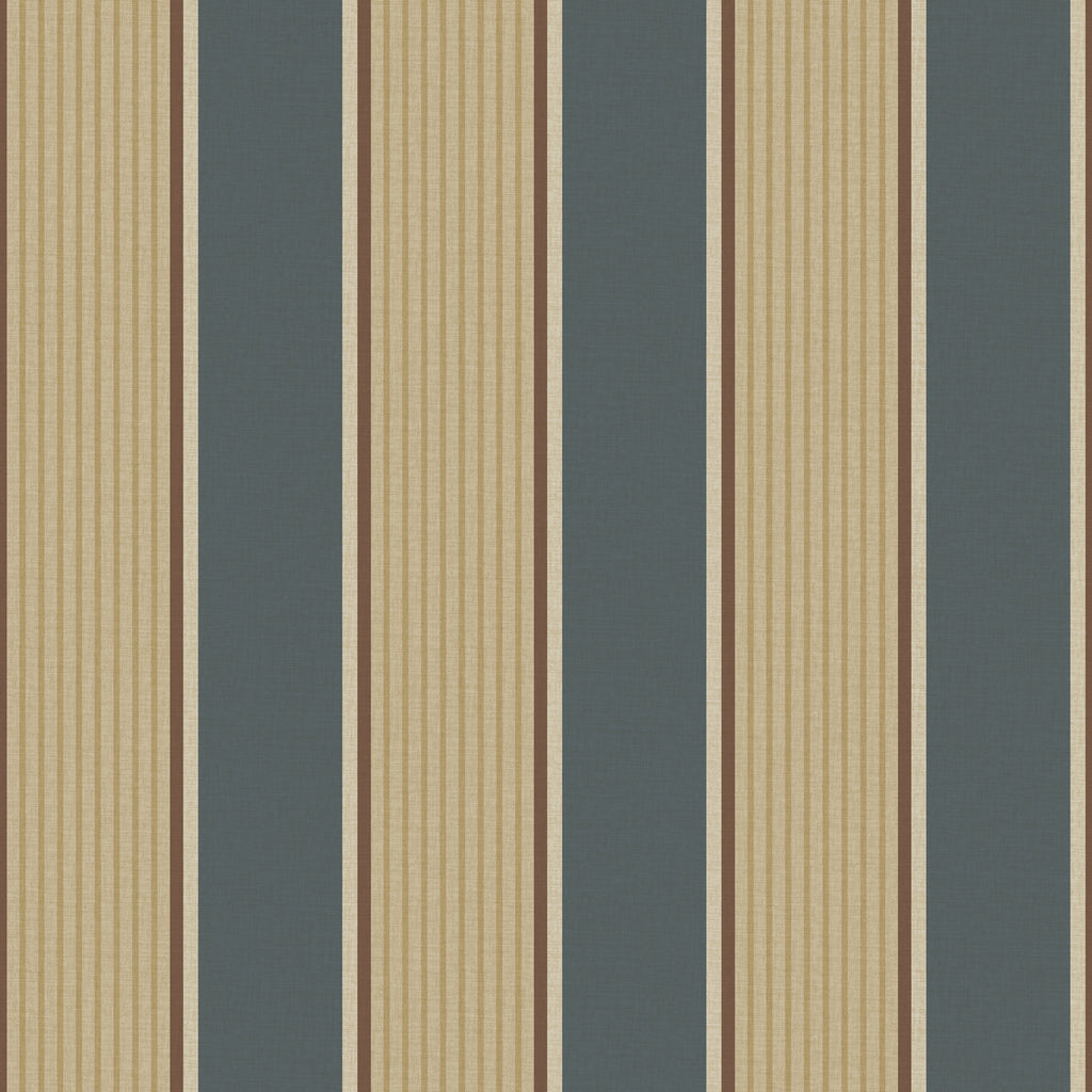 Turf Navy Stripe Wallpaper Wallpaper