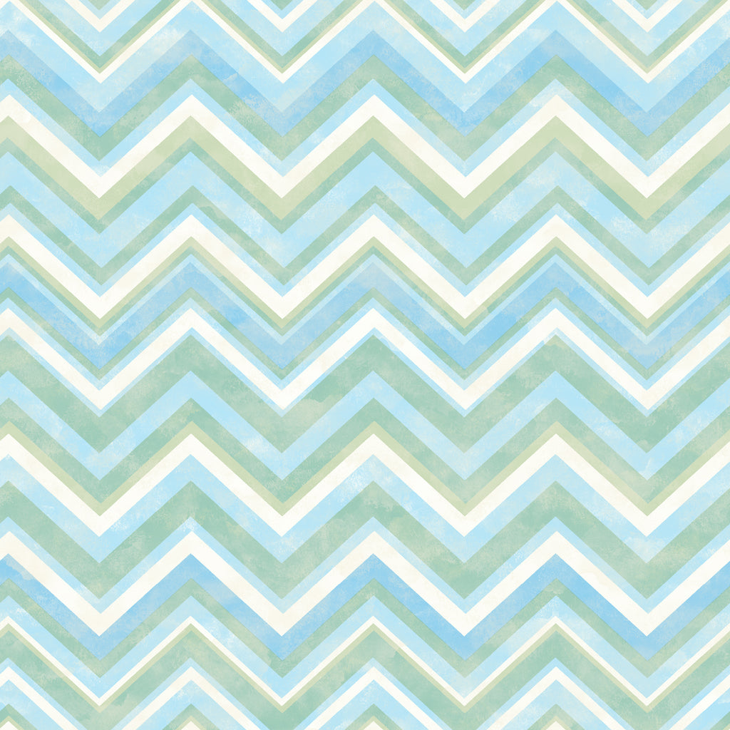 Oasis Blue Chevron Wallpaper Wallpaper