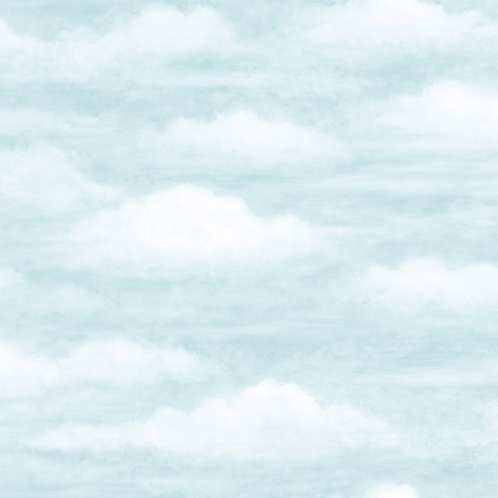Daydreamer Light Blue Clouds Faux Effects Wallpaper Wallpaper