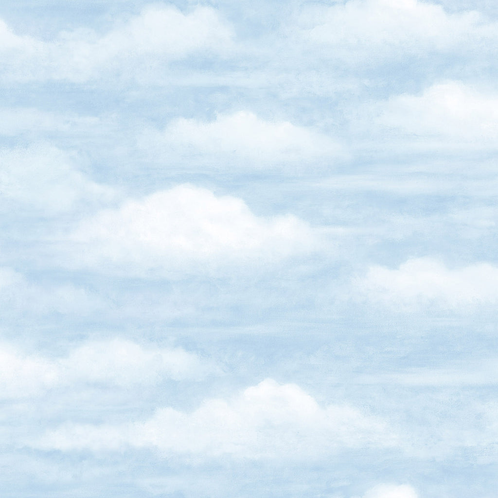 Daydreamer Blue Clouds Faux Effects Wallpaper Wallpaper
